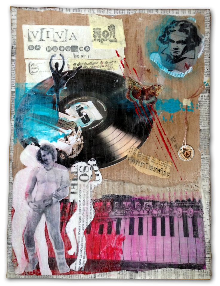 Anna Galkina.  Musik / music, #collage