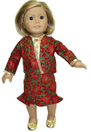 Merry Christmas Suit For All 18 Inch Girl Dolls