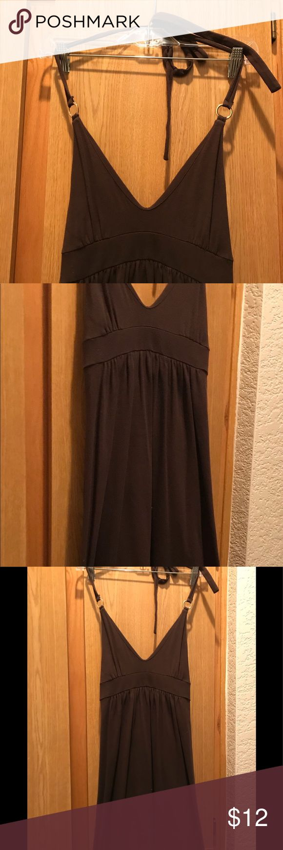 Long brown maxi dress. Long brown maxi dress, Size XS, can be worn as a cover-up or cute daytime dress. Never worn. Victoria secret. Moda International Dresses Maxi