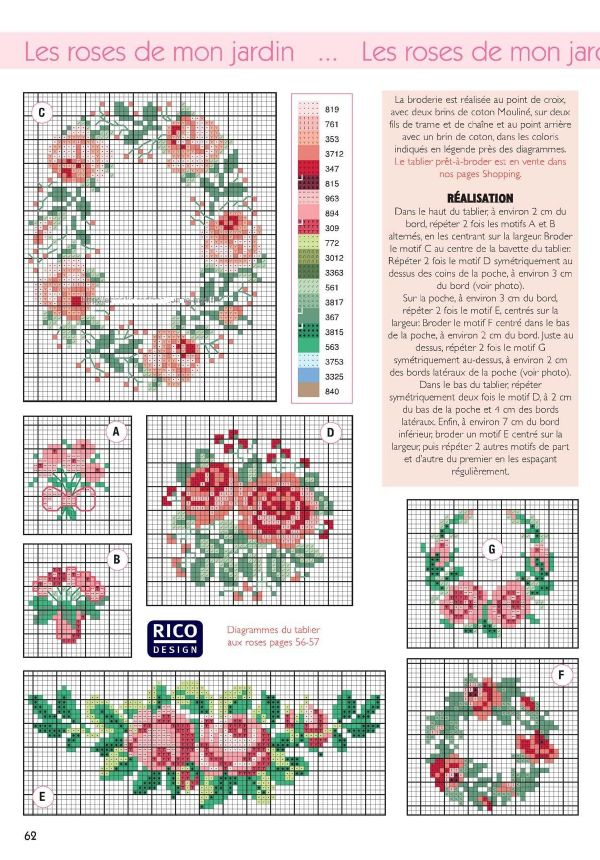 Free floral cross stitch patterns #stitching