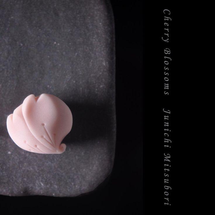 """#一日一菓 「#桜 」 #煉切 製 #Wagashi of the day """"#cherry blossom"""" 本日は「桜」です。 Today is…"""