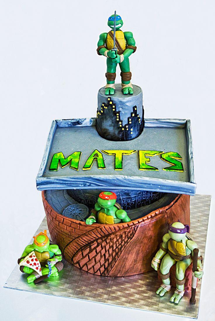 TMNT, ninja turtles cake