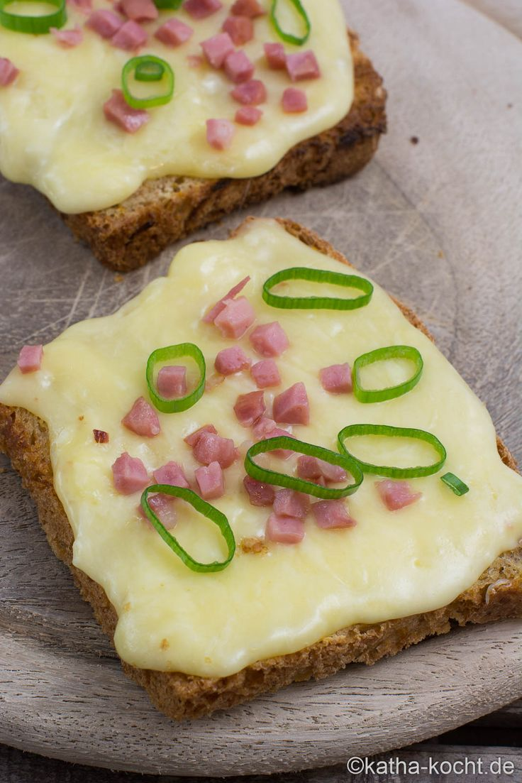 Raclette Brot mit Speck wie auf dem Weihnachtsmarkt
