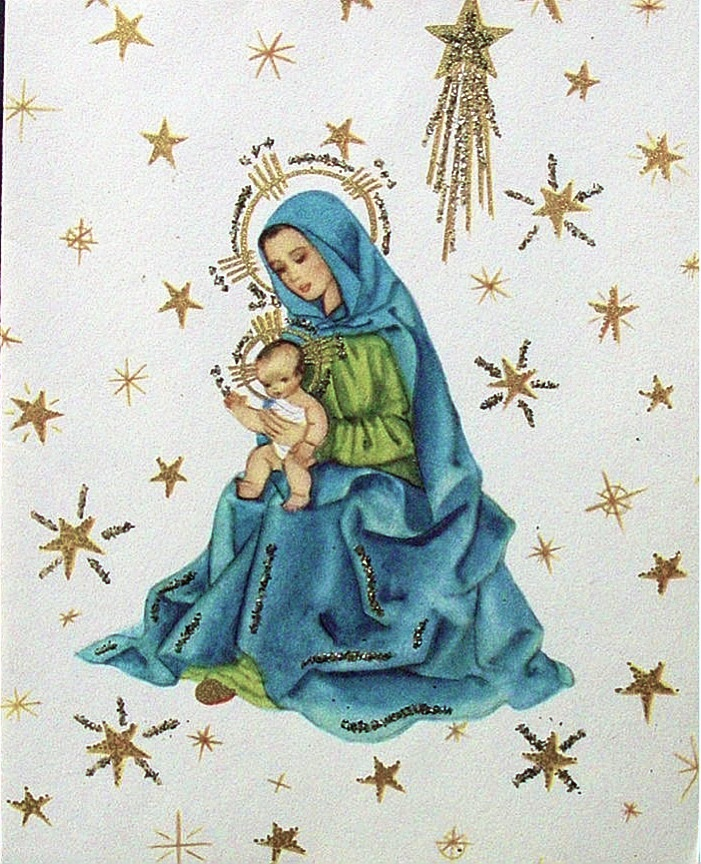 """""""Round yon virgin mother and child""""."""
