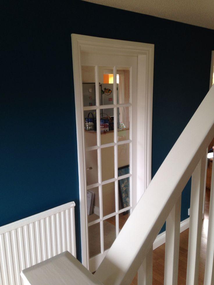 Dulux Teal Tension Hallway Feature Wall Bedroom Hallway