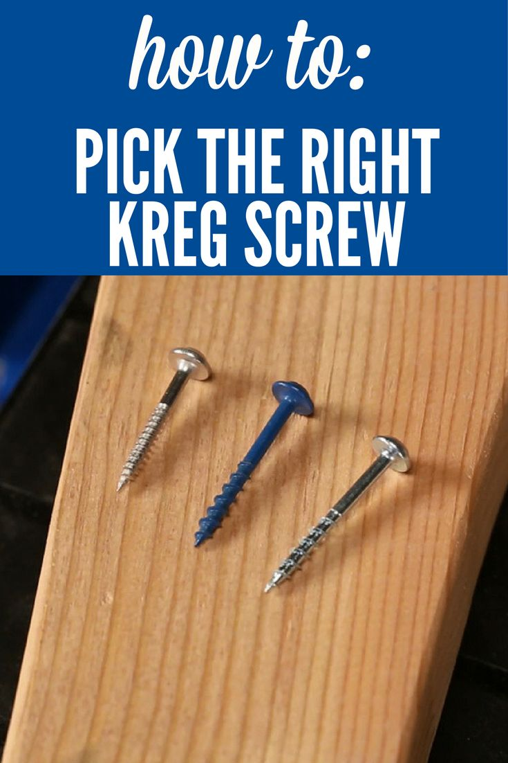 How To Pick the Right Type of Kreg Screws | When you're building a project using pocket-hole construction, it's important to choose the correct type of screw. Here's what you need to know to choose the correct Kreg Screw for all of your Kreg Joinery projects. See link in Extras tab for more information.