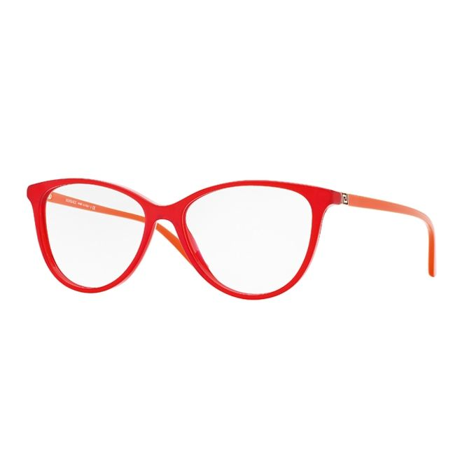 707d7838d1e Bright red crystal frame front with orange temples 0VE3194