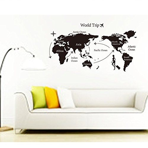 17 best home wall decor images on pinterest home wall decor e livingstyle world map of earth wall art wall decal stic https gumiabroncs Gallery
