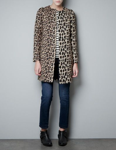 Zara LEOPARD PRINT COAT - thinking about getting this