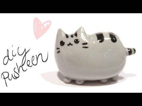 How to make Pusheen Cat in Clay - YouTube