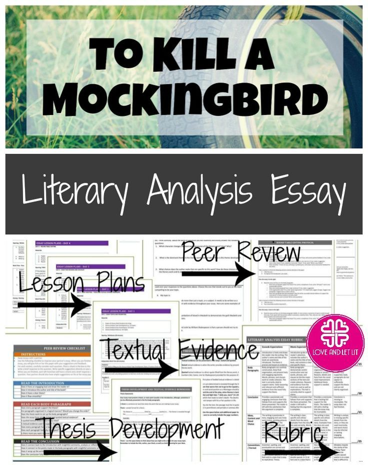 To Kill A Mockingbird Literary Analysis Essay Prompts Quotes Thesis Development And M High School Writing Prompts Essay Writing Tips Literary Analysis Essay