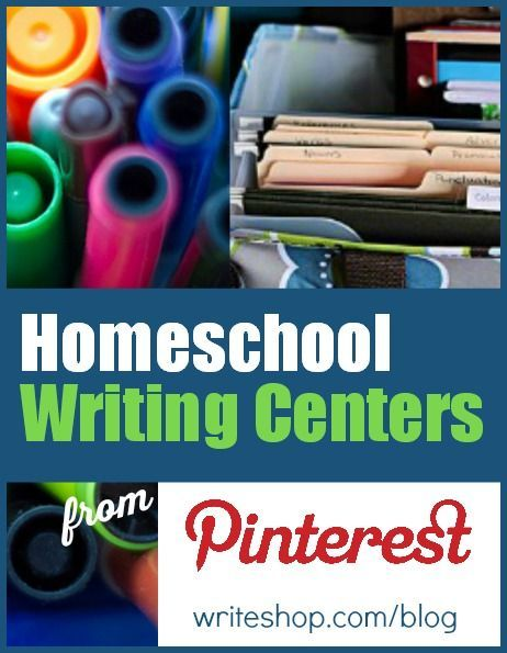 Looking for a fun homeschool writing center? Pinterest has lots of ideas for permanent & portable writing centers to fit your teaching space
