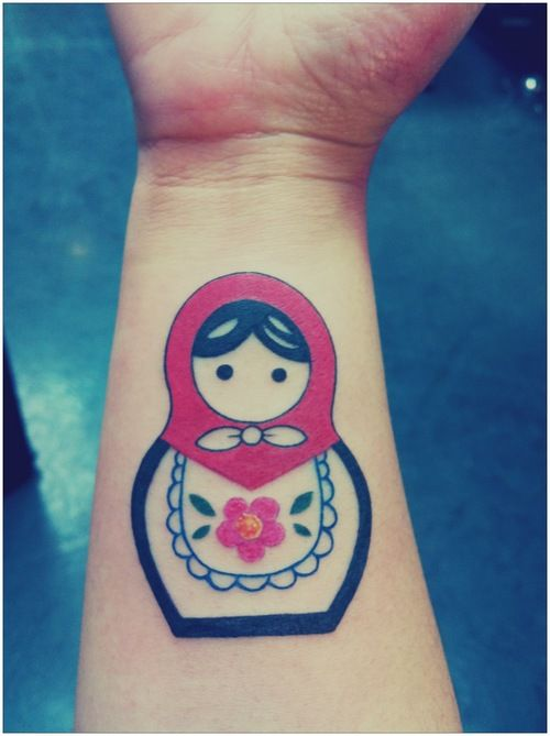 Day 33: Matryoshka doll tattoo - swimming in a sea of discontent
