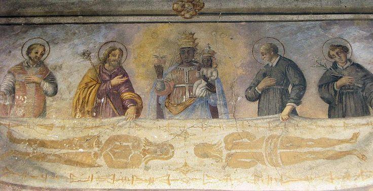 Costa del Vernato: Casa della Sindone (affresco medievale)