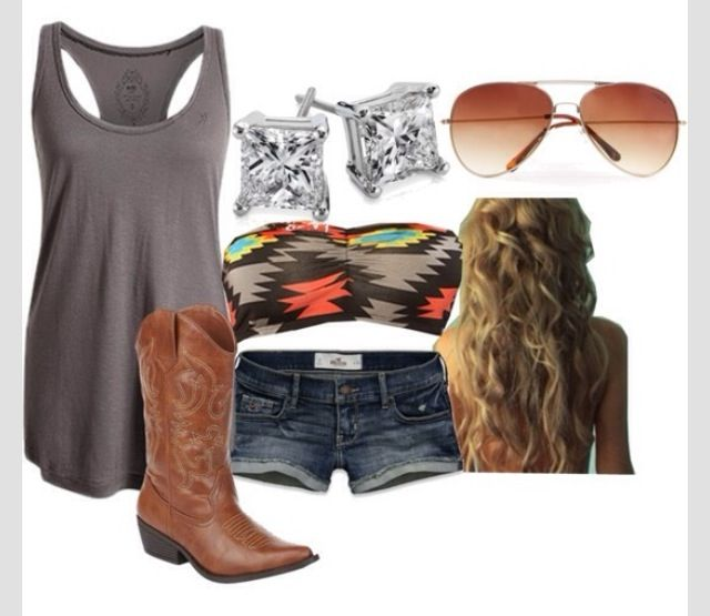 Cute summer southern girl outfit