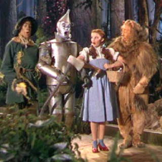 The Wizard of Oz! THis holds so many memories...My sweet daughter being afraid of the flying monkies, me dressing up like the tin man for halloween, and me being born and raised in Kansas.