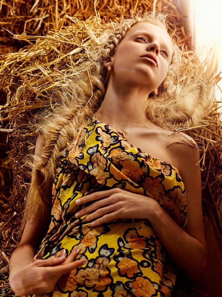Cheyenne Keuben Models Golden Braids in Prestage Editorial