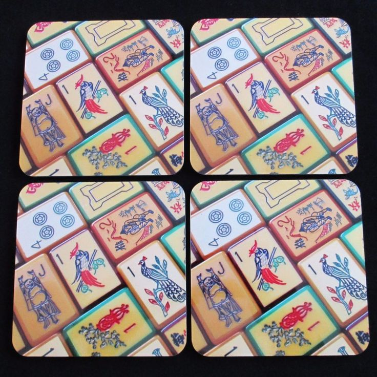 with photograph enrobed mahjong tiles design no slip cork backing and an easy clean high gloss finish size x x rounded corners color in photos may - Enrob Color