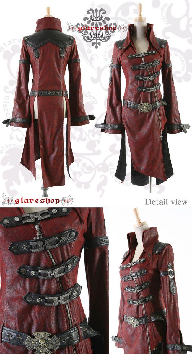 ★ネオパンク★中世の騎士調コート(赤)