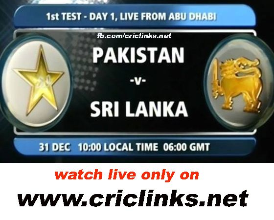 31 December,Tuseday 1st Test between pakistan vs Sri lanka will be played at Abu Dhabi.its will be last match of year 2013.After odi seris win pakistan keen to start Test seris on high.other hand sri lanka win last odi will feel batter and sprit will be high.so dont miss live action.Match will be start 11.00 AM PST.11.30 AM IST,to watch live action online please vist only on http://www.criclinks.net/