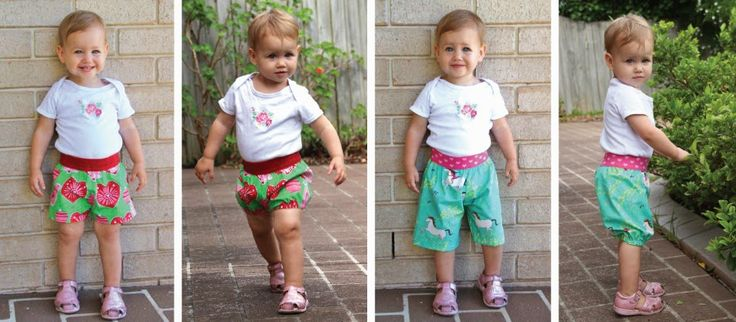 Pattern Emporium Baby Shorts & Bloomers Pattern Hack. These adorable ones were made by Suzie from Applegail Clothing