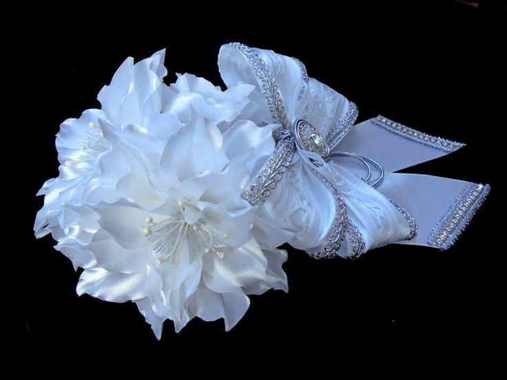 White lilies Hair Bun , Bridal Hair Bun , Flower Girl Hair Bun , Dance Recital Hair Bun , Ballet Bun Wrap by AccessoriesShop4you on Etsy