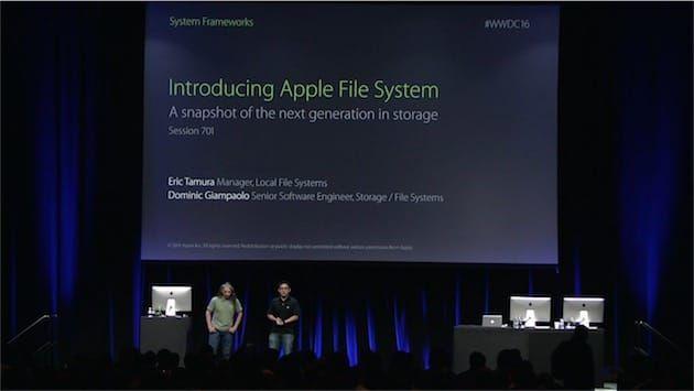 APFS : le futur système de fichiers d'Apple qui va changer votre vie | MacGeneration