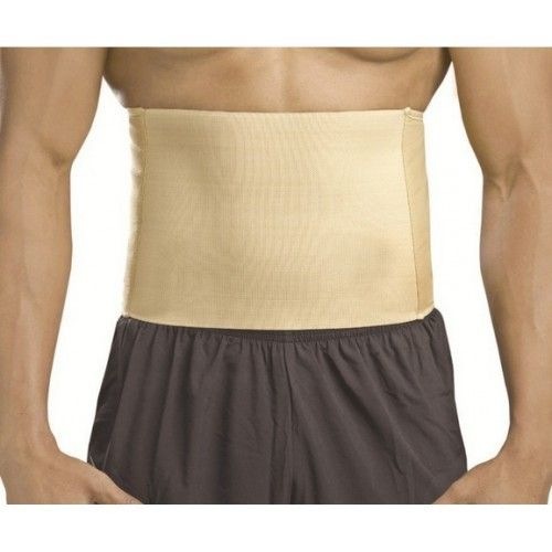 Dyna Surgical Abdominal Corset is made up of sanforized cotton with sturdy elastic. It is used for Post umbilical and ventral hernia surgery.
