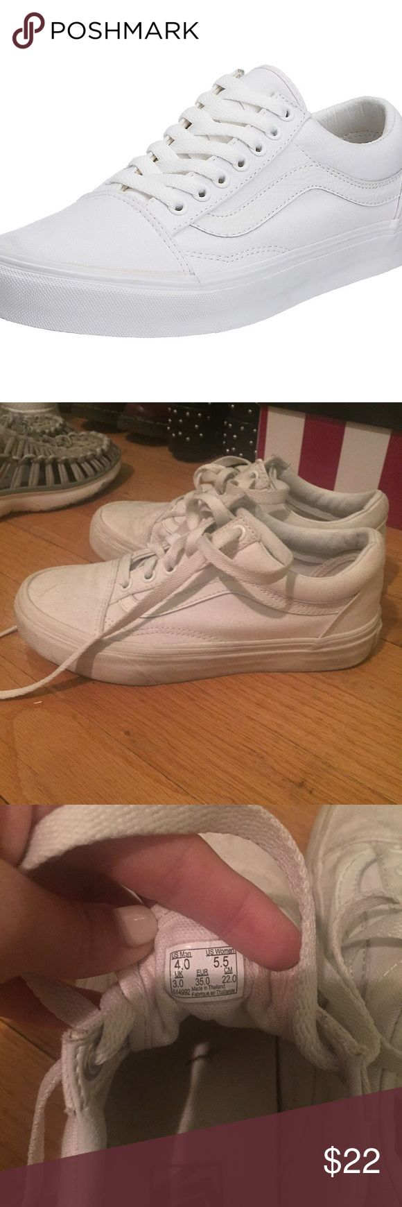 Vans sk8 Low White women's 5.5 - decent condition, price reflects some signs of wear! Vans Shoes