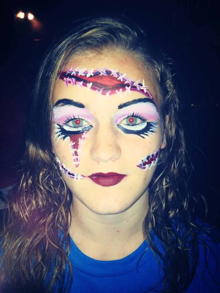 face paint halloween makeuphalloween ideashalloween costumesfake - Halloween Fake Wounds