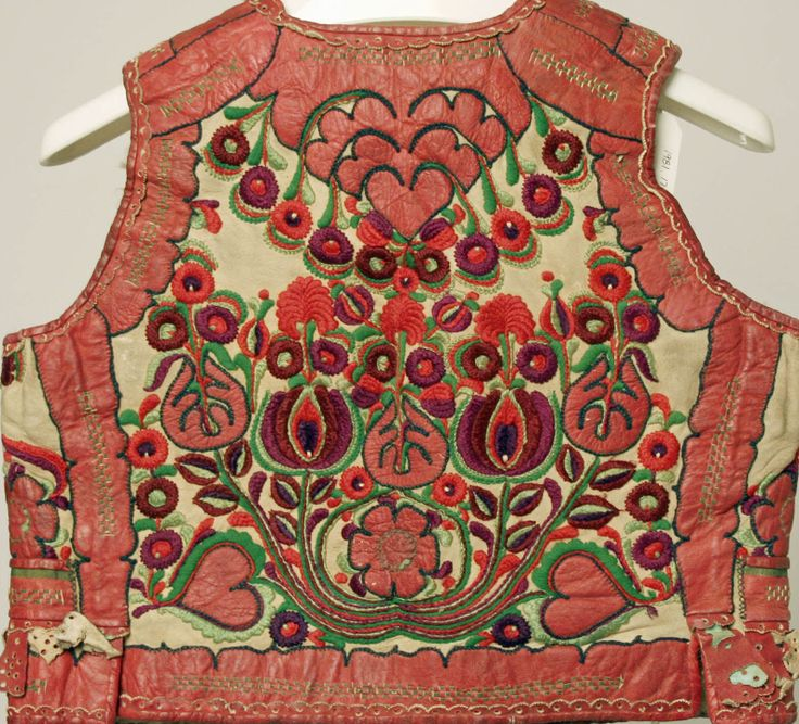 Vest_back Date: late 19th century Culture: Hungarian Medium: leather, wool