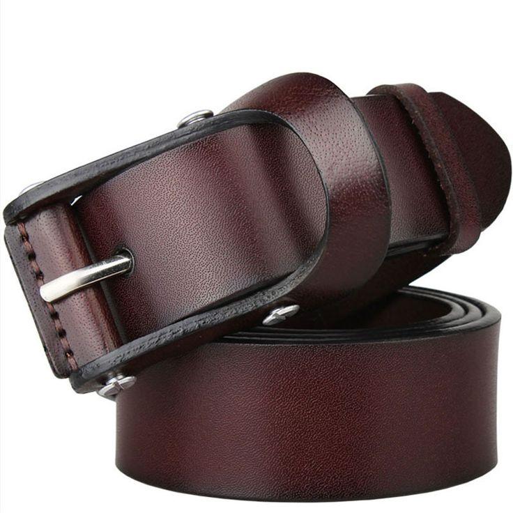 Item Type: Belts Belt Width: 3.8 cm Pattern Type: Solid Department Name: Adult Brand Name: MILUOTA Style: Fashion Gender: Men Buckle Length: 9 cm Belts Material: Metal Belts Material: Cowskin Buckle W
