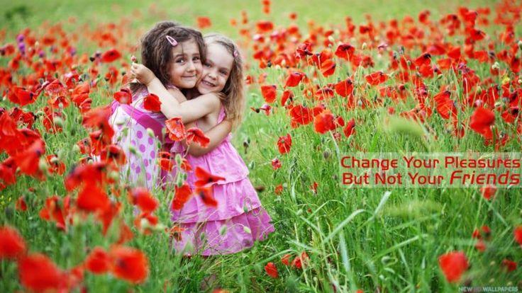 Cute Girls Hug for Friendship Day Photos - Happy Friendship Day Photos Pics Images