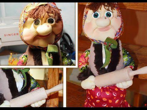 Кукла из капрона Теща / Make Pantyhose Doll mother-in-law - YouTube