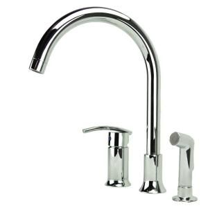Wonderful Fontaine Vincennes Single Handle Side Sprayer Kitchen Faucet In  Chrome MFF VCNK3