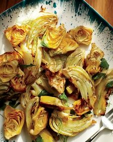Canned artichokes add subtlety and flavor to this meal. We like the Whole Foods 365 brand because the artichokes don't come out too salty when roasted.