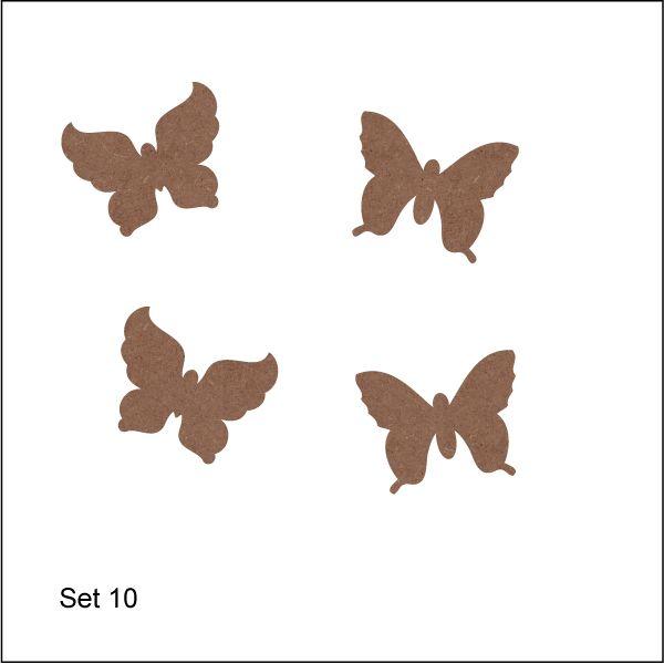 Vlinders   set 010 15,00