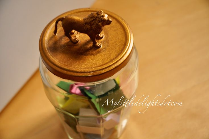 Golden DIY jar for everyday little delights