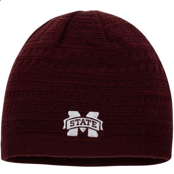 Mississippi State Bulldogs adidas Womens Fan Knit Beanie - Maroon