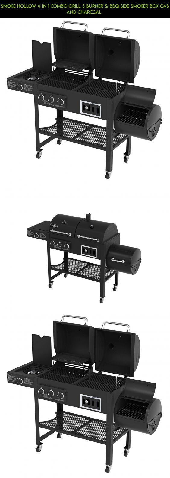 Smoke Hollow 4 in 1 Combo Grill 3 burner & BBQ Side Smoker Box Gas and Charcoal  #drone #technology #kit #plans #charcoal #combo #camera #racing #and #parts #tech #grills #fpv #shopping #gas #gadgets #products