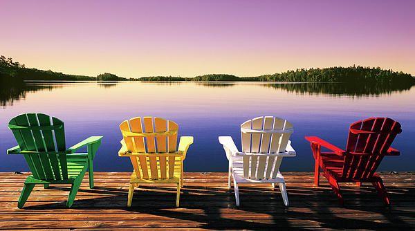 Muskoka Chairs Photograph - John Bartosik