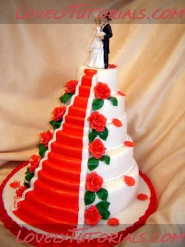 Debut Cake Design With Stairs : 17 Best images about Carving cake tutorials on Pinterest ...