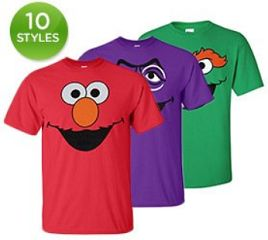 Sesame Street 100% Cotton T-Shirts for the Whole Family only $12 plus $2 in flat rate shipping! Big Bird, Cookie Monster, Elmo–if you don't immediately recognize these characters, you̵ ...