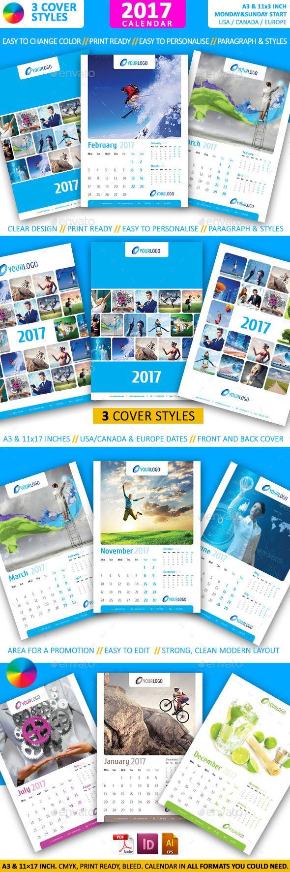 Calendar 2017 - A3 - Calendars Stationery