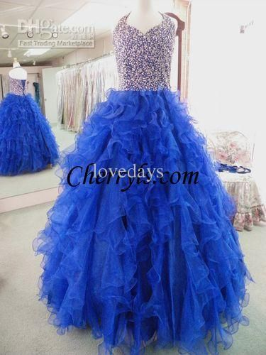2015 New Shiny V Neck Crystal Beads Ruffle Children Prom Party Ball Gowns Sapphire Kids Girls National Teen Pageant Dresses Pageant Dresses For Girl Pink Pageant Dresses For Toddlers From Lovedays, $87.8| Dhgate.Com