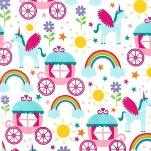 Fairytale Fabric. Michael Miller Rainbows & Unicorns