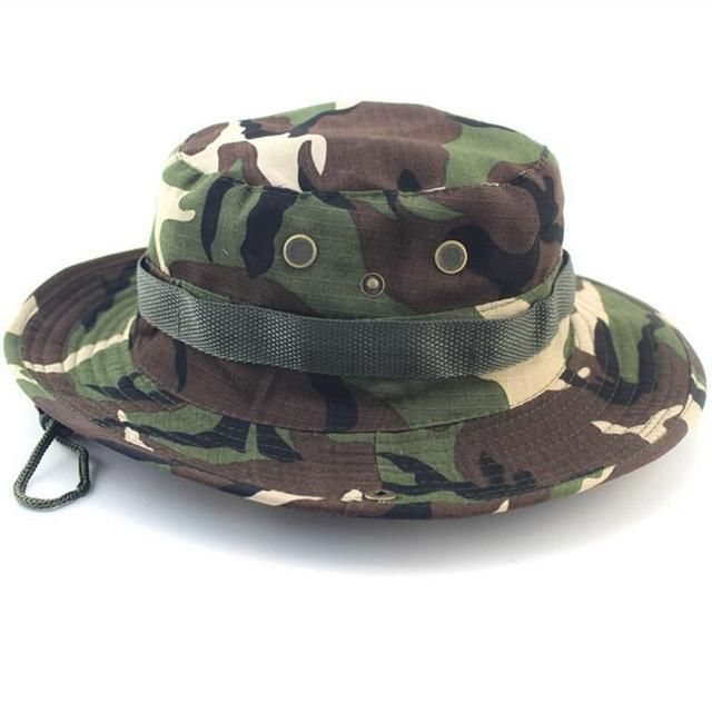 6939783bfa8 SUMMER BUCKET HATS MILITARY CAMOUFLAGE HAT FOR MEN JUNGLE FISHERMEN HATS  WITH WIDE BRIM SUN HAT CAP FOR WOMEN MEN  MilitaryHatsForWomen