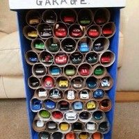 Make This Awesome Toy Car Garage with TP Rolls (or PVC pipe) for Your Little Racer