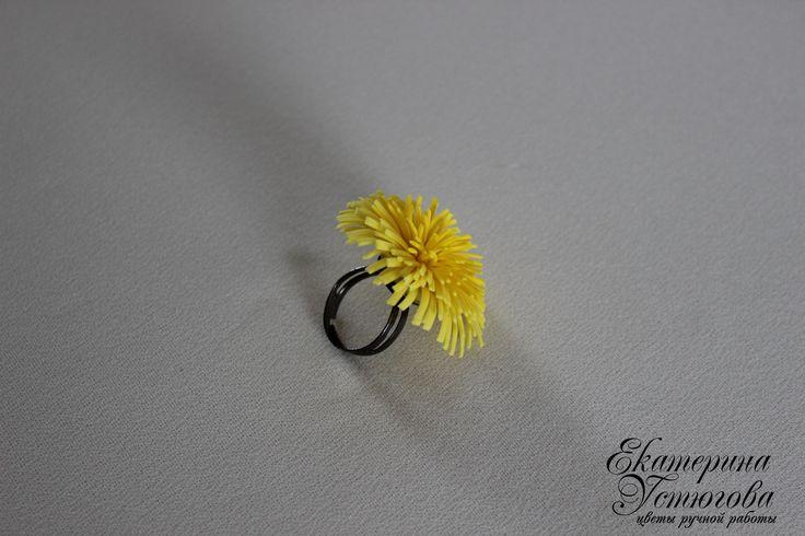 Кольцо из полимерной глины (холодного фарфора)