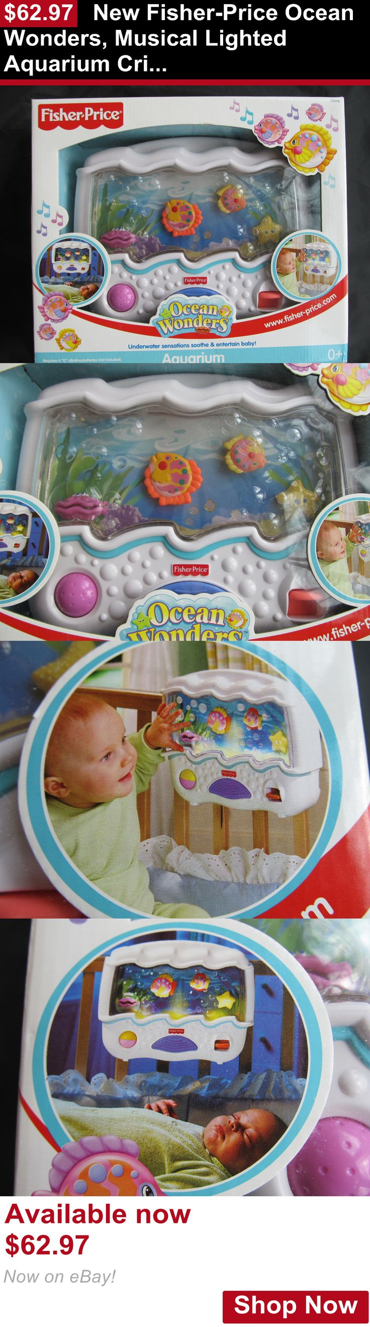 Crib Toys: New Fisher-Price Ocean Wonders, Musical Lighted Aquarium Crib Toy Attachment Nib BUY IT NOW ONLY: $62.97